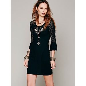 Free People Black City Girl Bodycon Dress